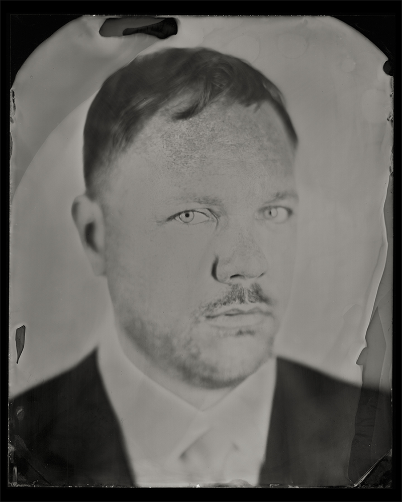 brian-clamp, clampart, tin-type