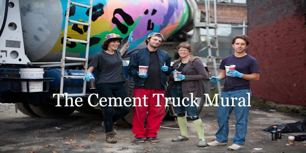 Cement Truck Mural, Andrea Bergart, art, New York