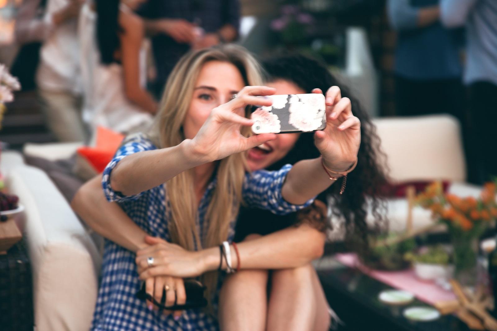 selfie in action