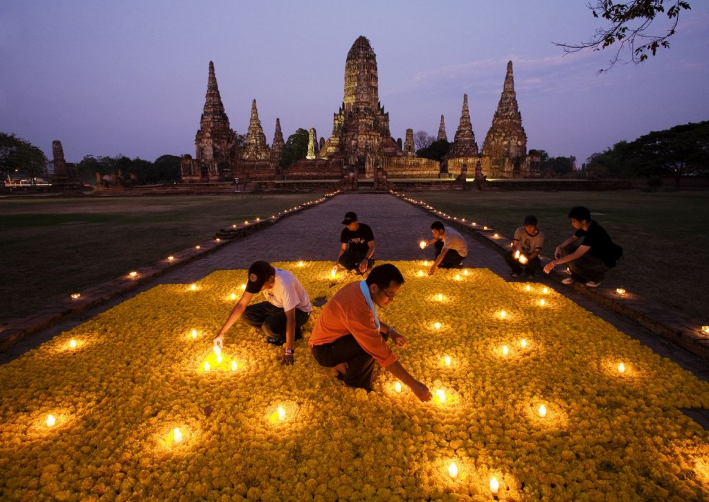Flower installation, Thailand