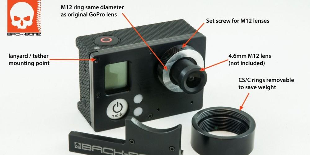 ribcage-modification-kit, back-bone, GoPro-Hero-3+, photography