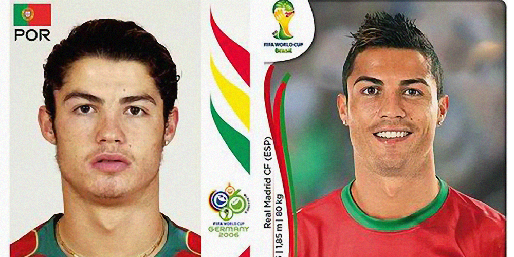 world-cup, world-cup-stars, football, soccer, 2014, then-and-now, stars, christiano-ronaldo, portugal