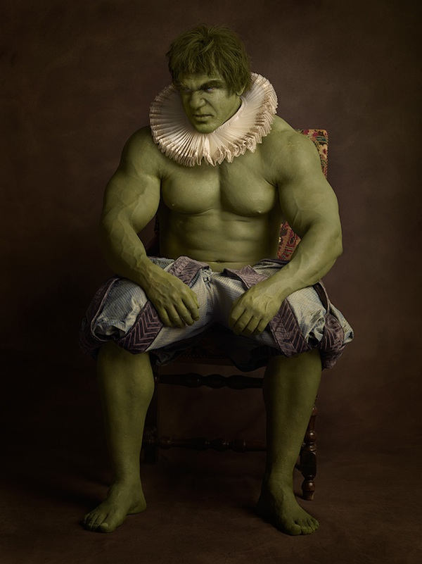 Hulk, super hero, super flemish, sacha goldberger, portrait, 16th century, photography