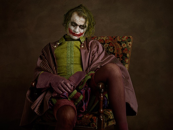 The joker, sacha goldberger, super flemish, villian, superheroes, photograph