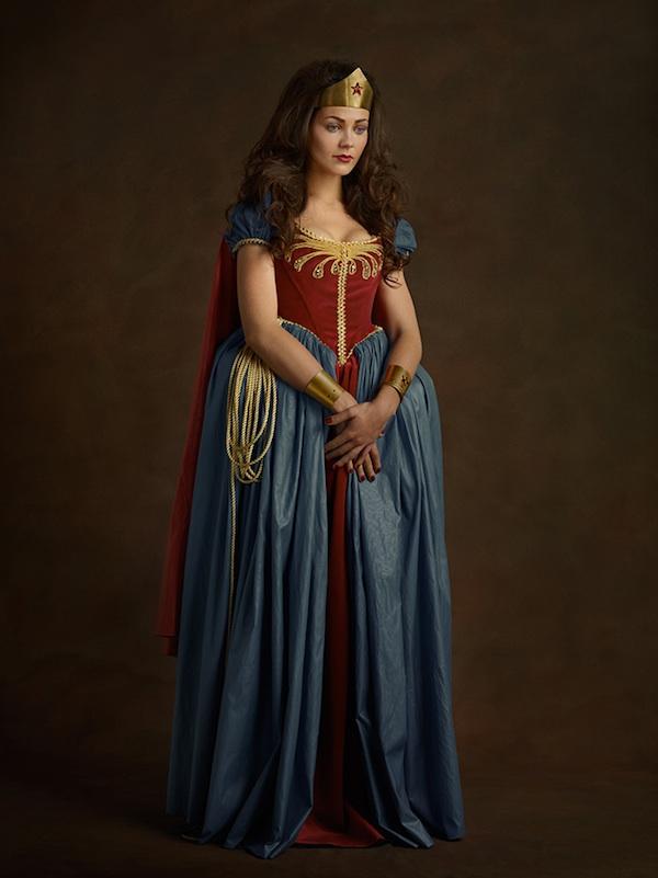 Superwoman, portrait, photography, Super Flemish, Sacha Goldberger, 16th Century