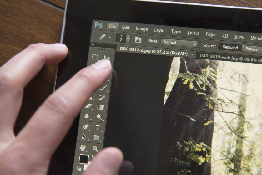 Review Surface Pro 3 Photoshop Touch Workspace button size