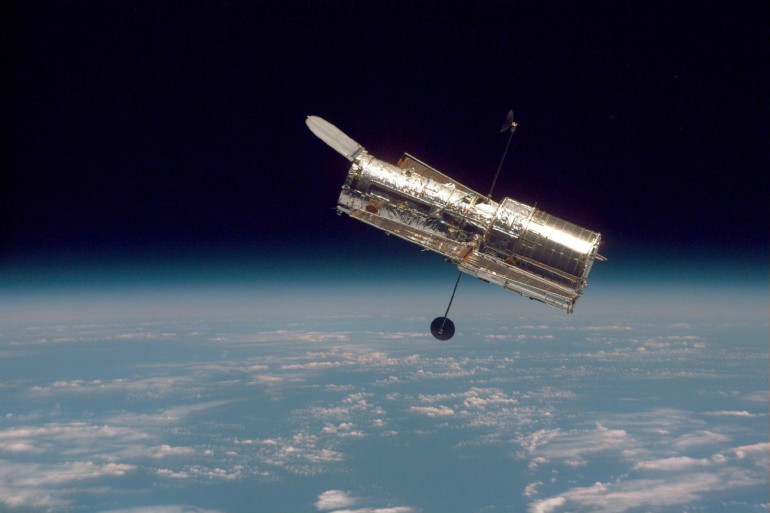 The Advanced Camera for Surveys of the Hubble Space Telescope was used to capture the images © NASA