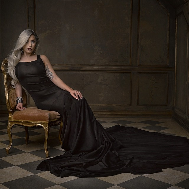 The @markseliger studio is alive with the sound of @ladygaga #vfoscarparty © Vanity Fair