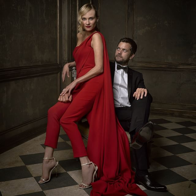Little ditty 'bout Josh and Diane. Jackson and Kruger, that is. #vfoscarparty © Vanity Fair