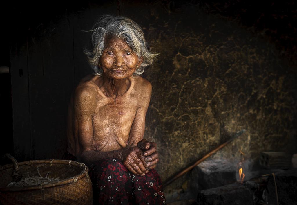 3. 90year old portrait women