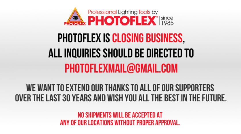 Once Mighty Lighting Manufacturer Photoflex Shutters After 30 Years