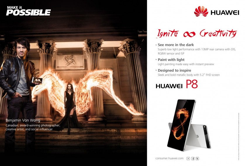 Von Wong Cell Phone Fire Photo Shoot Cover Ad
