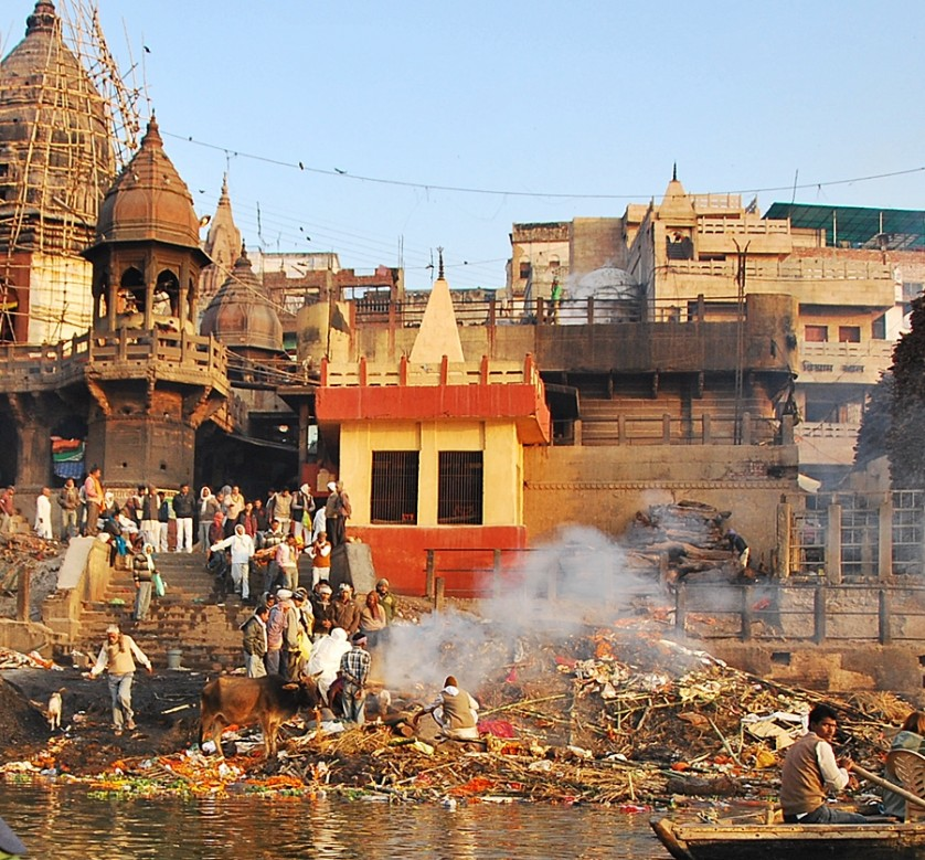 As a respect you shouldn't photograph up close the various cremations held at the burning Ghat © Nomadic Experiences