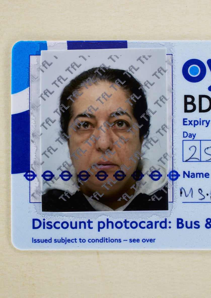 Afsaneh Mobasser, age 55. Travel Photocard. Issued in London, 2012 © Ali Mobasser
