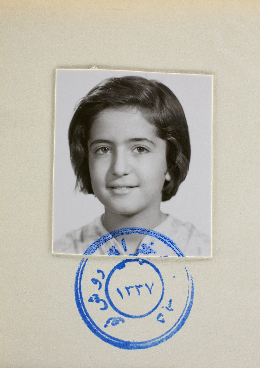 Afsaneh Mobasser, age 12. Primary School Diploma. Issued in Tehran, 1969 © Ali Mobasser