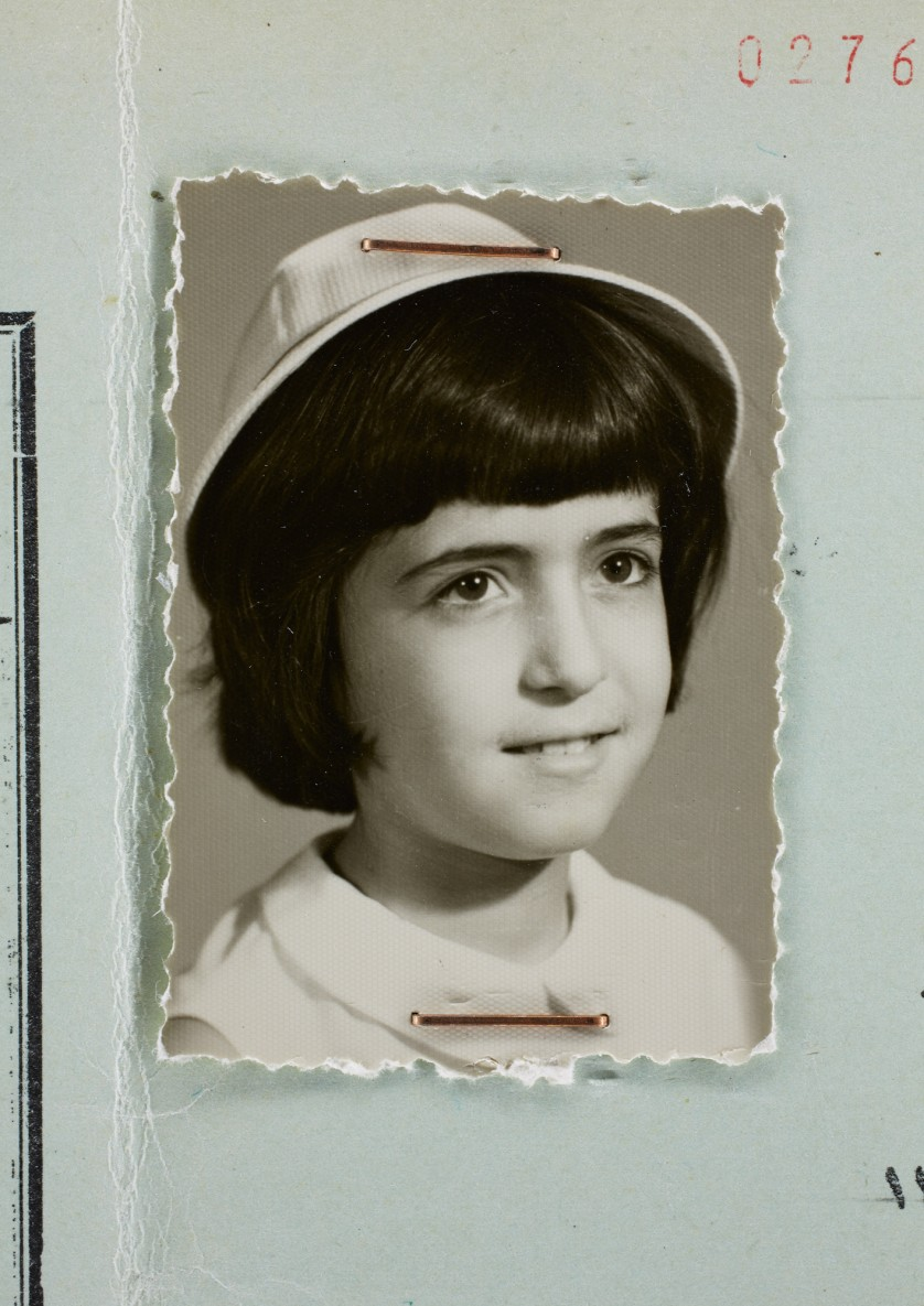 Afsaneh Mobasser, age 11. 5th Grade School Report. Issued in Tehran, 1968 © Ali Mobasser