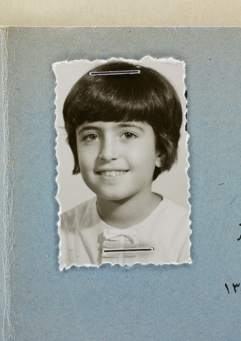 Afsaneh Mobasser, age 10. 4th Grade School Report. Issued in Tehran, 1967 © Ali Mobasser