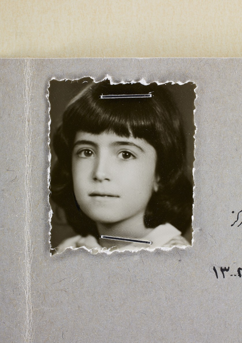 Afsaneh Mobasser, age 9. 3rd Grade School Report. Issued in Tehran, 1966 © Ali Mobasser