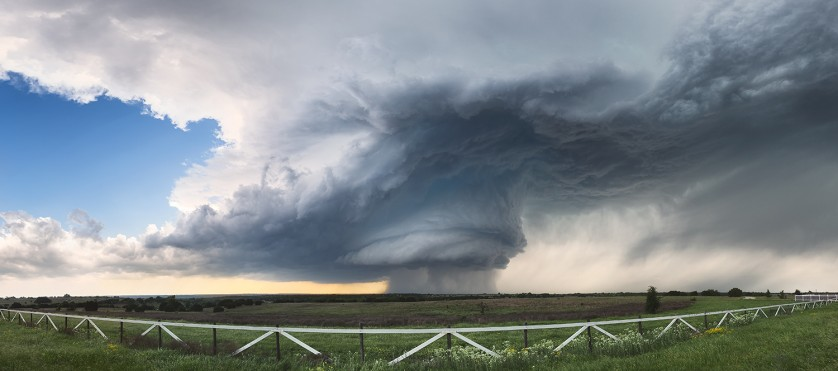 4-27-15-Hico-Texas-Supercell-Panoramic-Fence