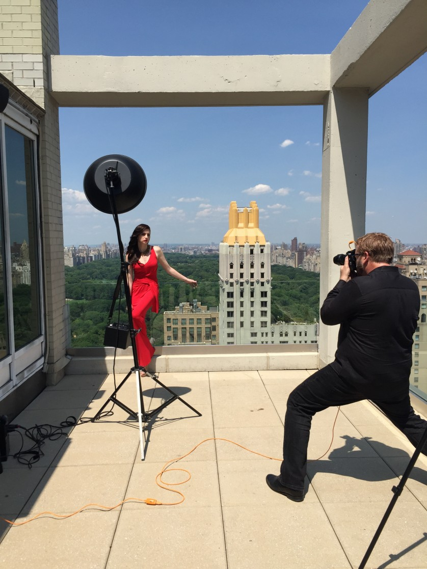 Brian Smith showing off the Sony A7r II in a fashion shoot.