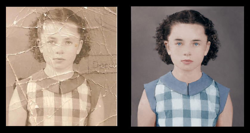 Old Photo Restoration Timelapse
