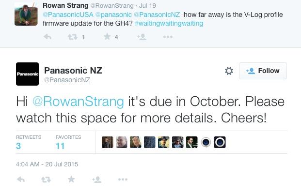 Panasonic confirms v-log