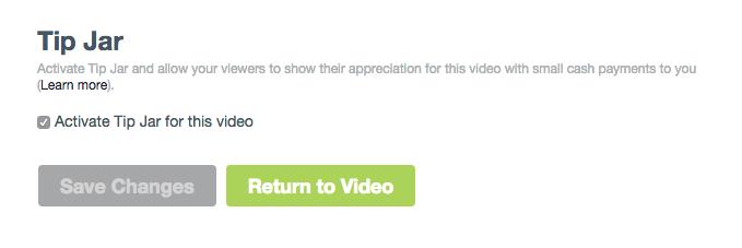 Vimeo Tip Jar