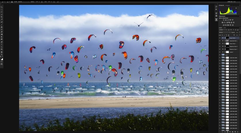 Casey McCallister Kite Surfing Photoshop