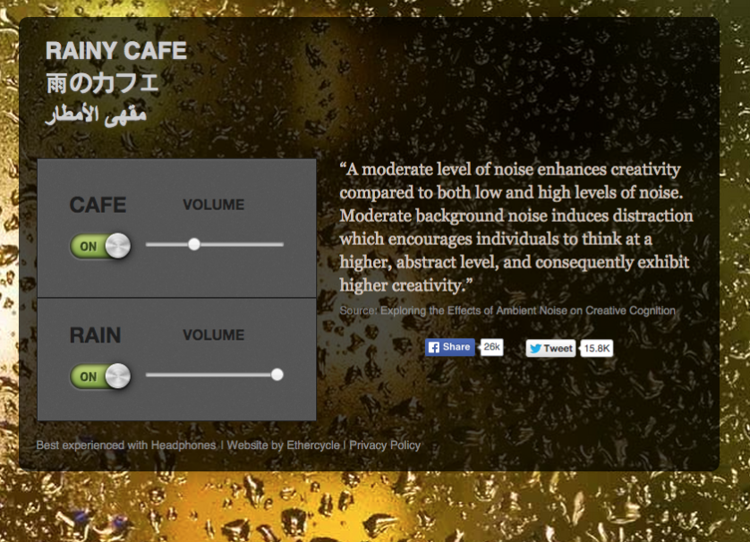 Increase Your Creativity with the Ambient Sound of a Rainy Day in a Cafe