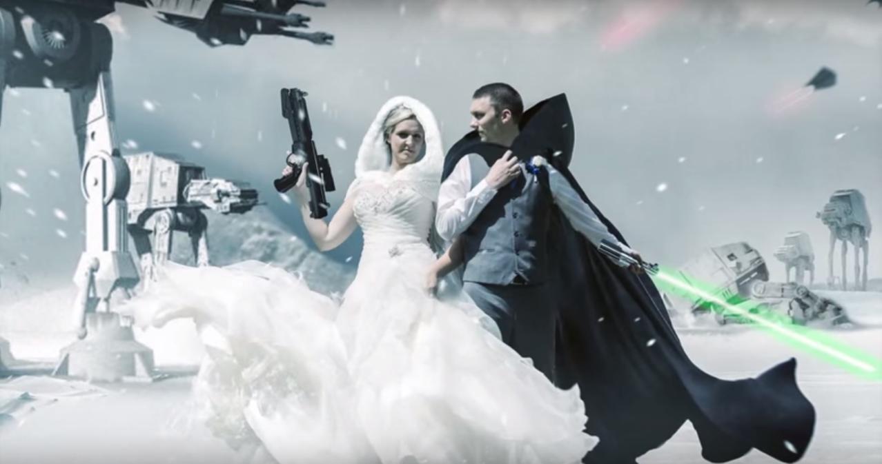 Some Photoshop Wizardry Brings a Couple\'s Star Wars Wedding Dreams ...