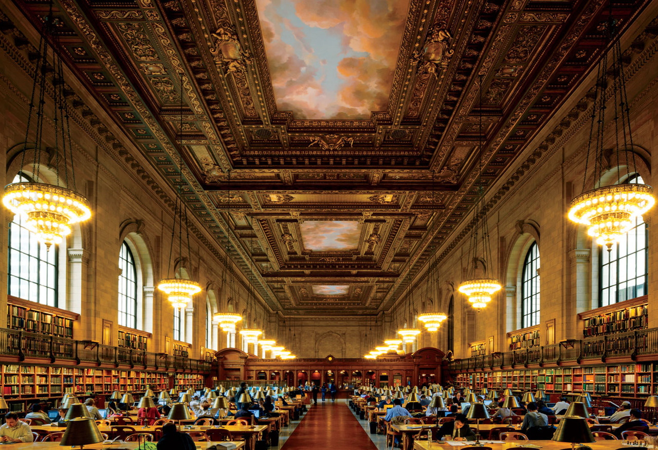 New York Public Library with free wifi