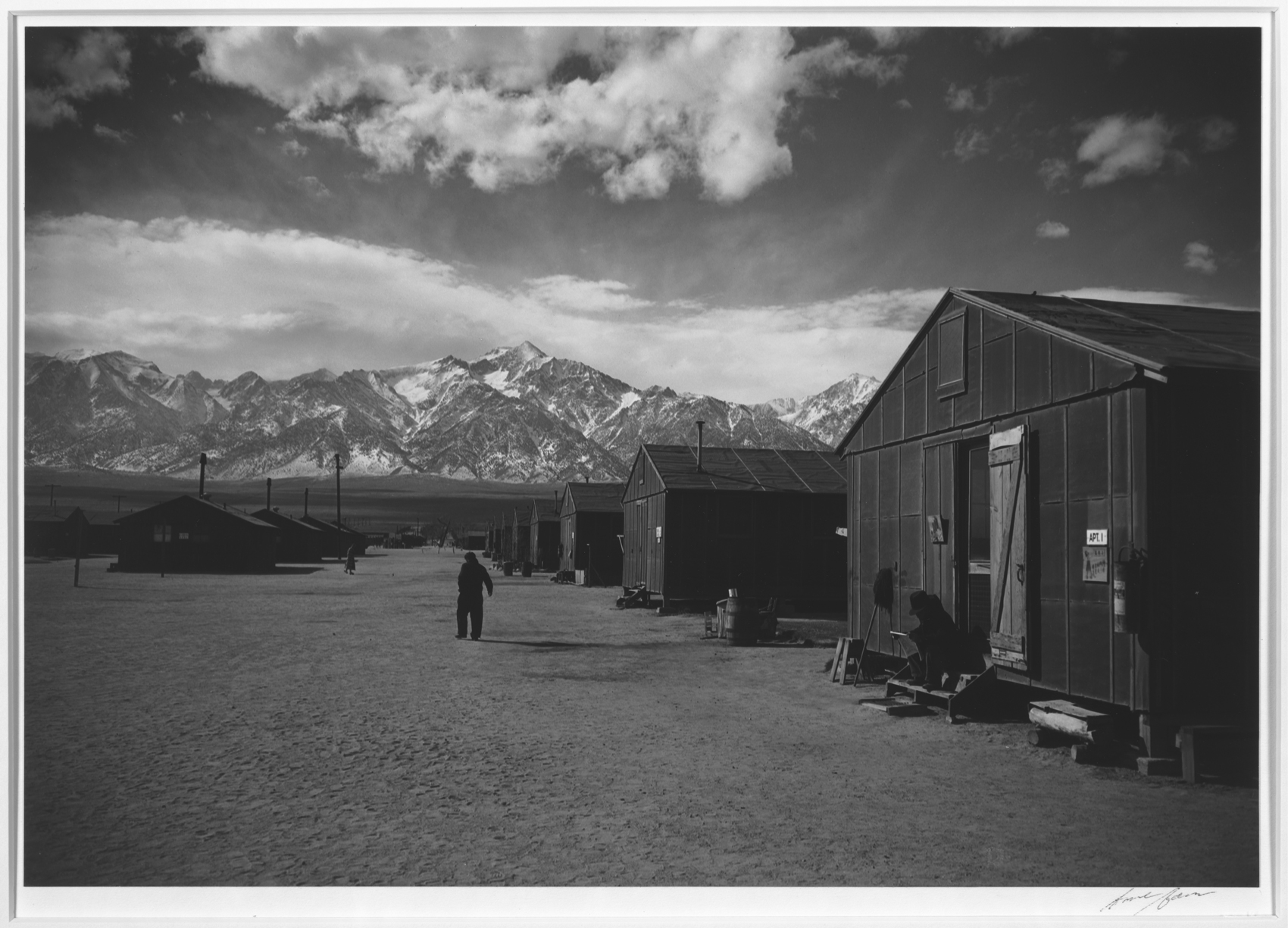 Famed landscape photographer ansel adams dramatic photos of a japanese american internment camp