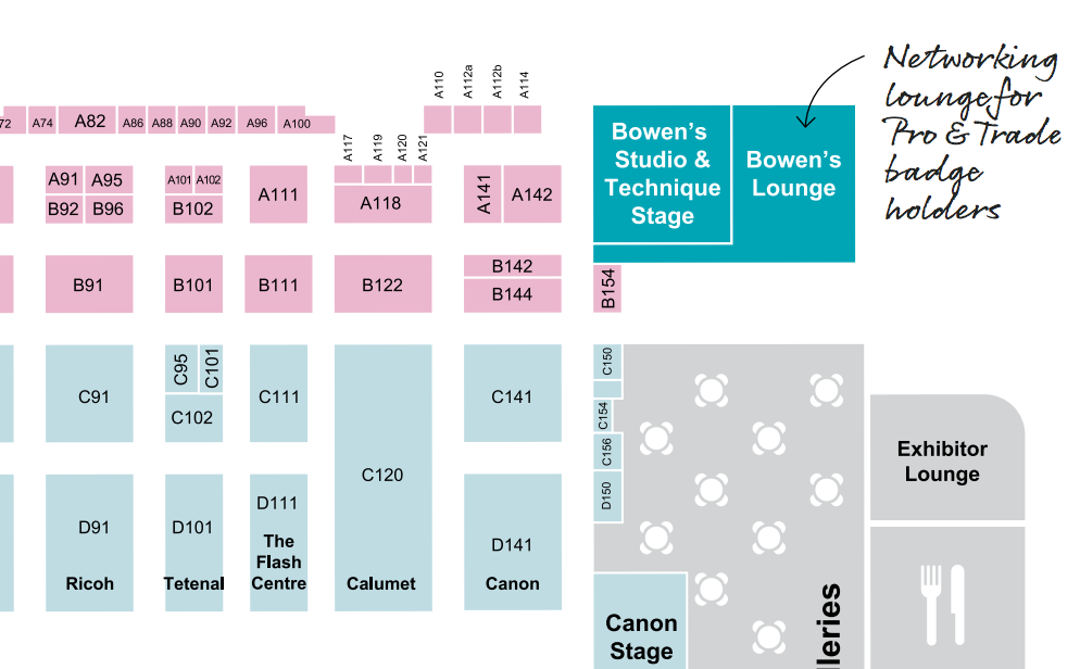 Bowens presence is still shown on the official show preview. Box C141 was their main company booth.