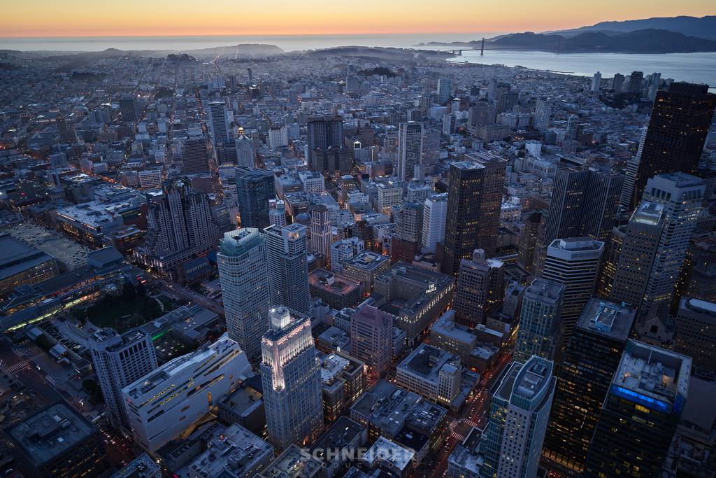 Jaron Schneider Aerial Backplate Photography San Francisco Financial District