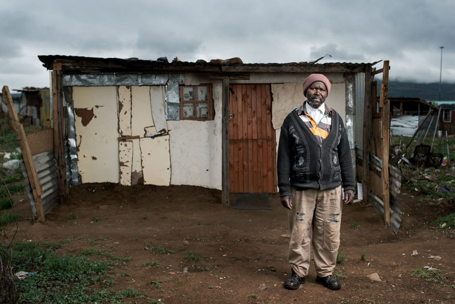 Mthuthuzeli Mtshange is 58 years old and worked in the gold mines for 35 years. He has silicosis and received no Compensation - Queenstown, South Africa