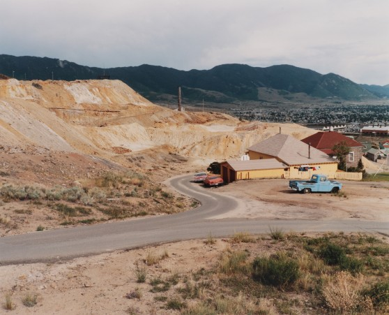 Mt. Con Mine waste pile and remains of Corktown, Butte, Montana, 1985