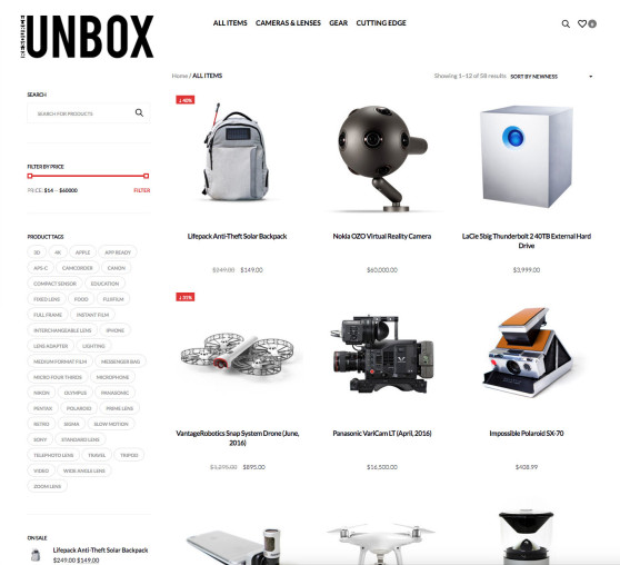 Resource Unbox Category Page