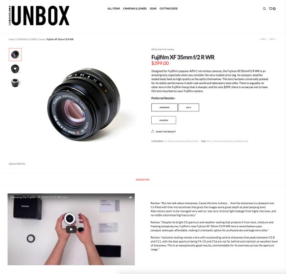 Resource Unbox Product Page