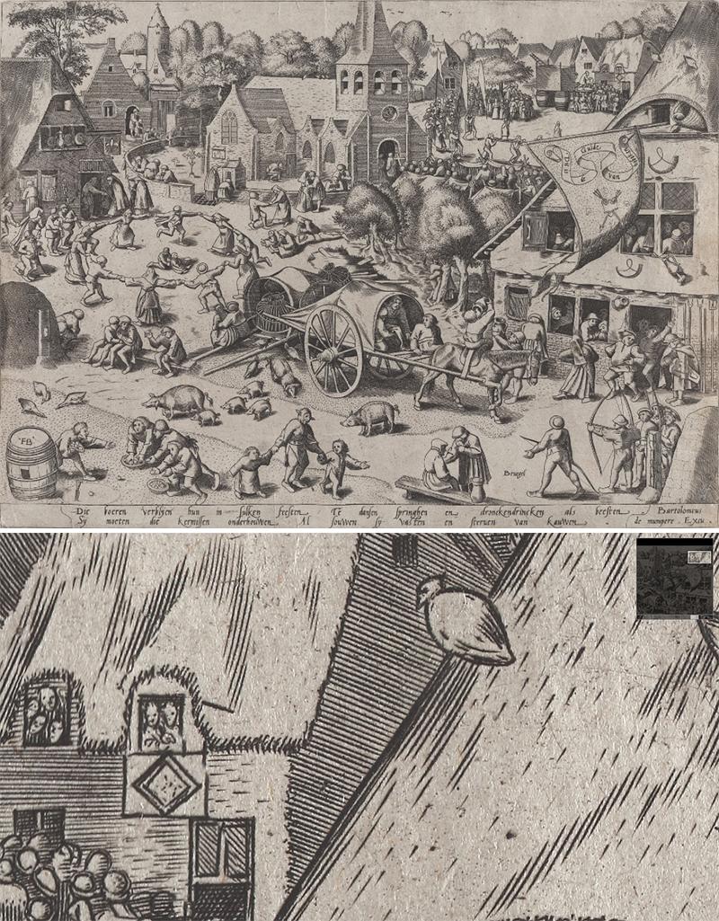 """The Kermis at Hoboken"" (1559), Frans Hogenberg, by courtesy of Museum Boijmans Van Beuningen"
