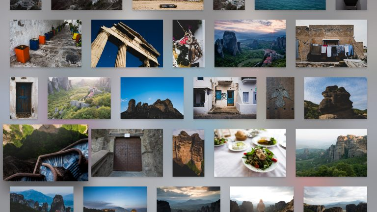 Scroll through all of the photos in your Creative Cloud account