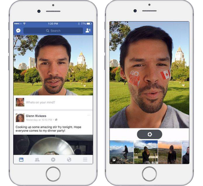 Facebook App Updates Ripoff More Snapchat-Like Features