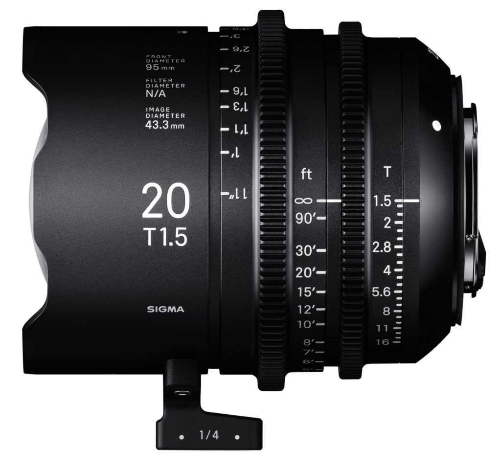 Sigma Announces Cinema Lens Line 20mm T1.5