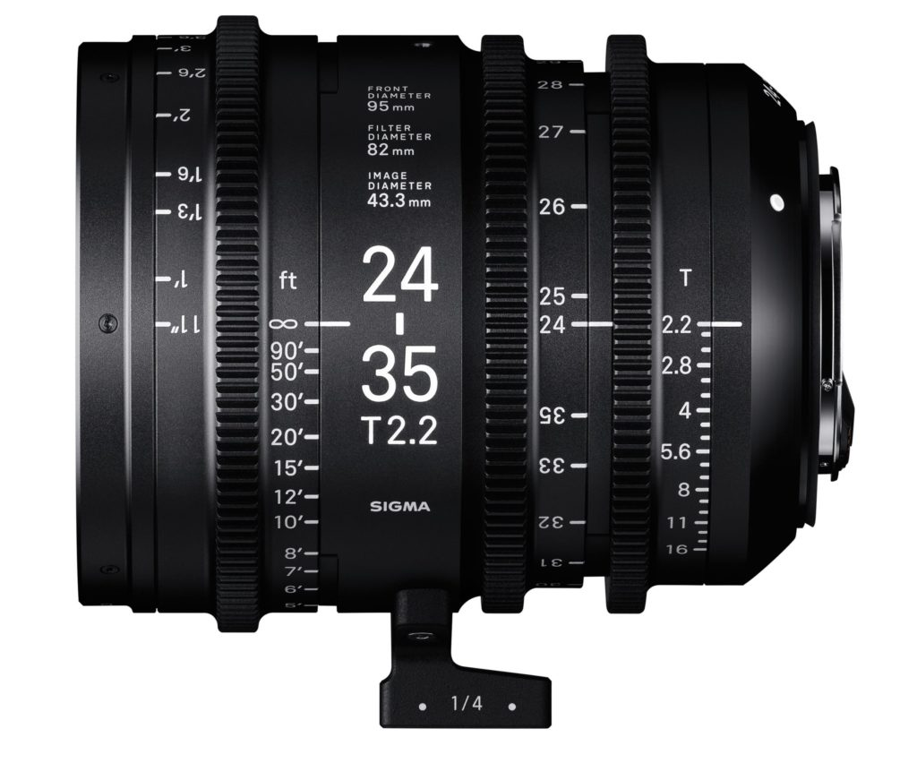 Sigma Announces Cinema Lens Line 24-35mm T2.2