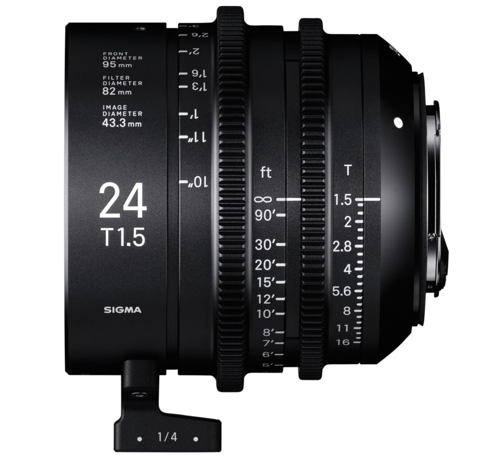 Sigma Announces Cinema Lens Line 24mm T1.5