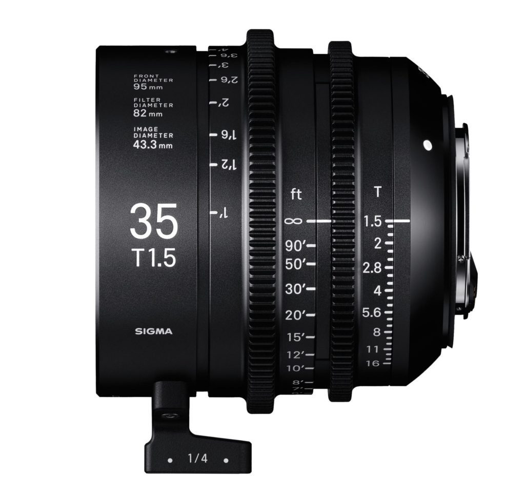 Sigma Announces Cinema Lens Line 35mm T1.5