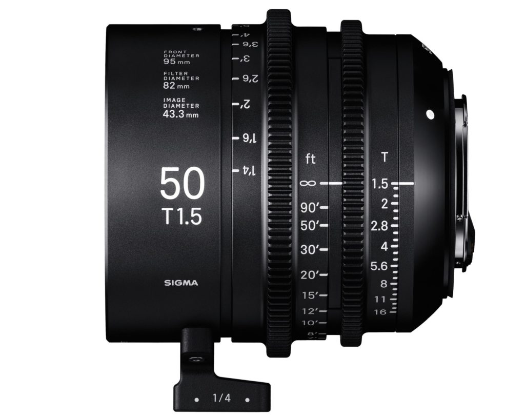 Sigma Announces Cinema Lens Line 50mm T1.5