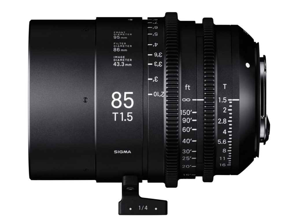 Sigma Announces Cinema Lens Line 85mm T1.5