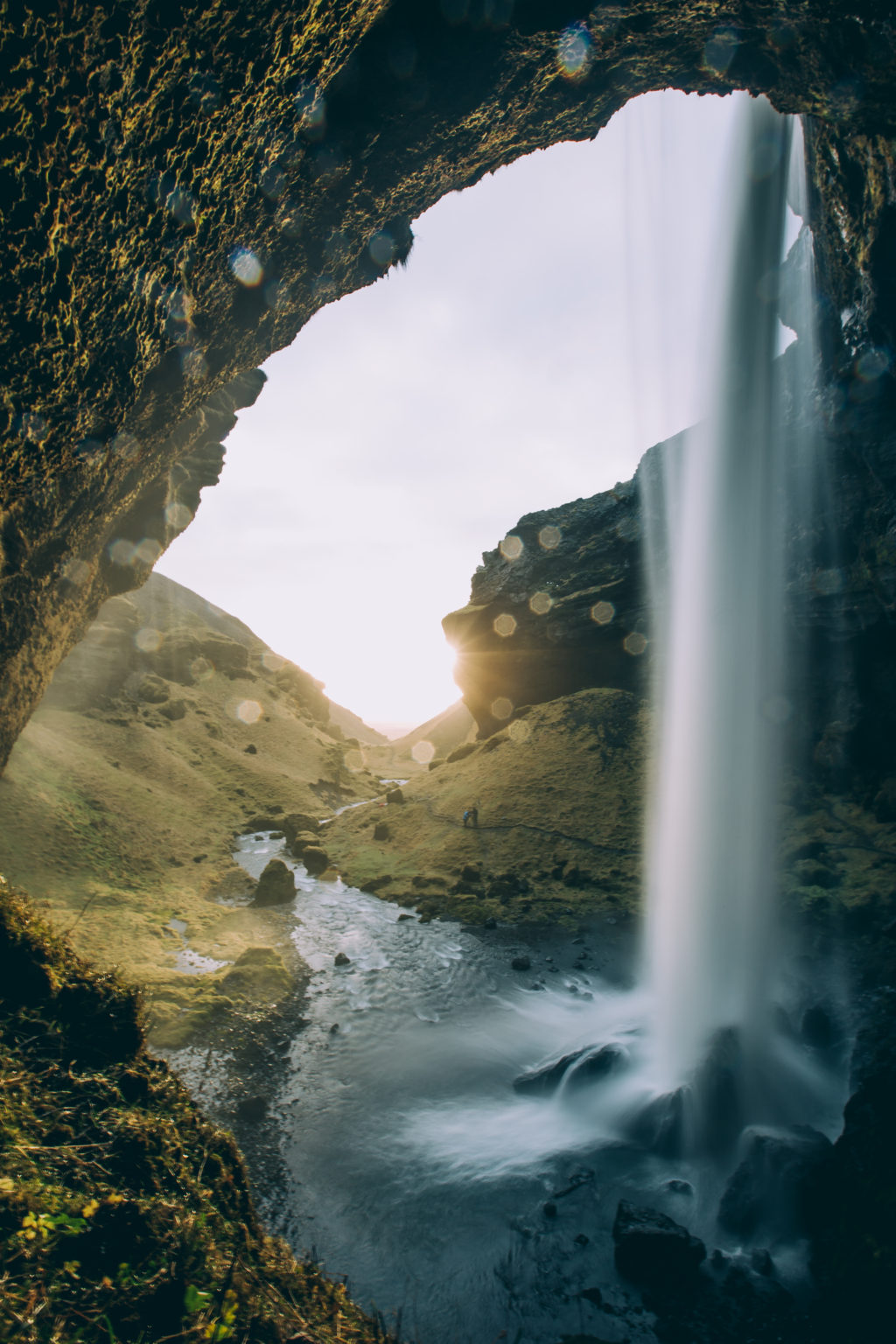 iceland-waterfall-through-cave