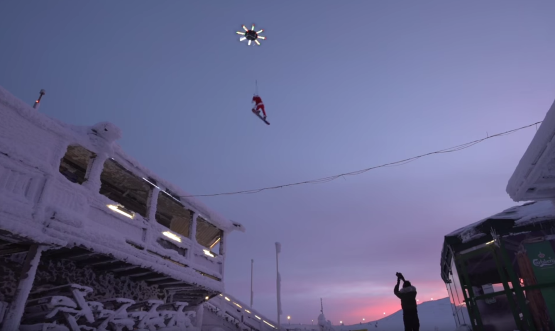 Casey Neistat Flies Over Ski Resort Harnessed to a Giant ...