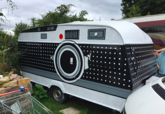$200 Camper Trailer Turned Giant Portable Camera
